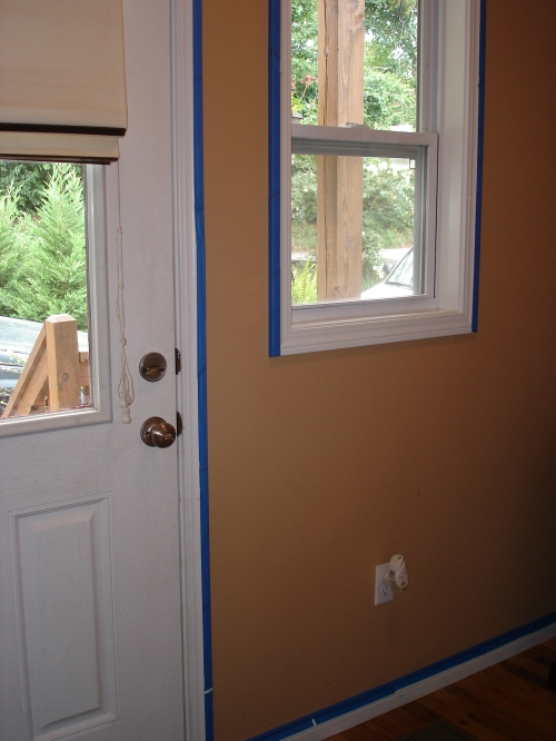 Taping trim for paint