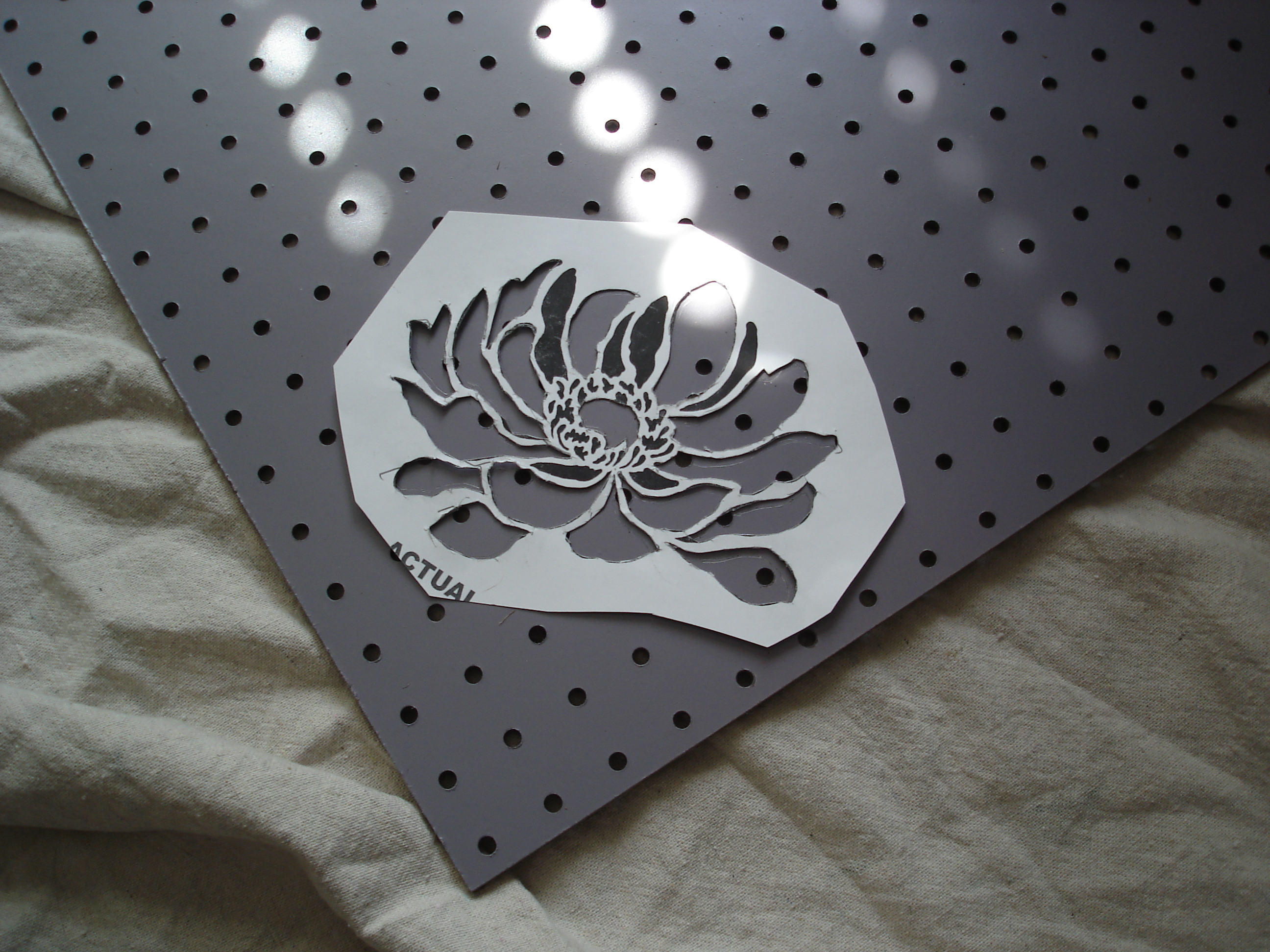 Home Depot Flower Paint Stencil