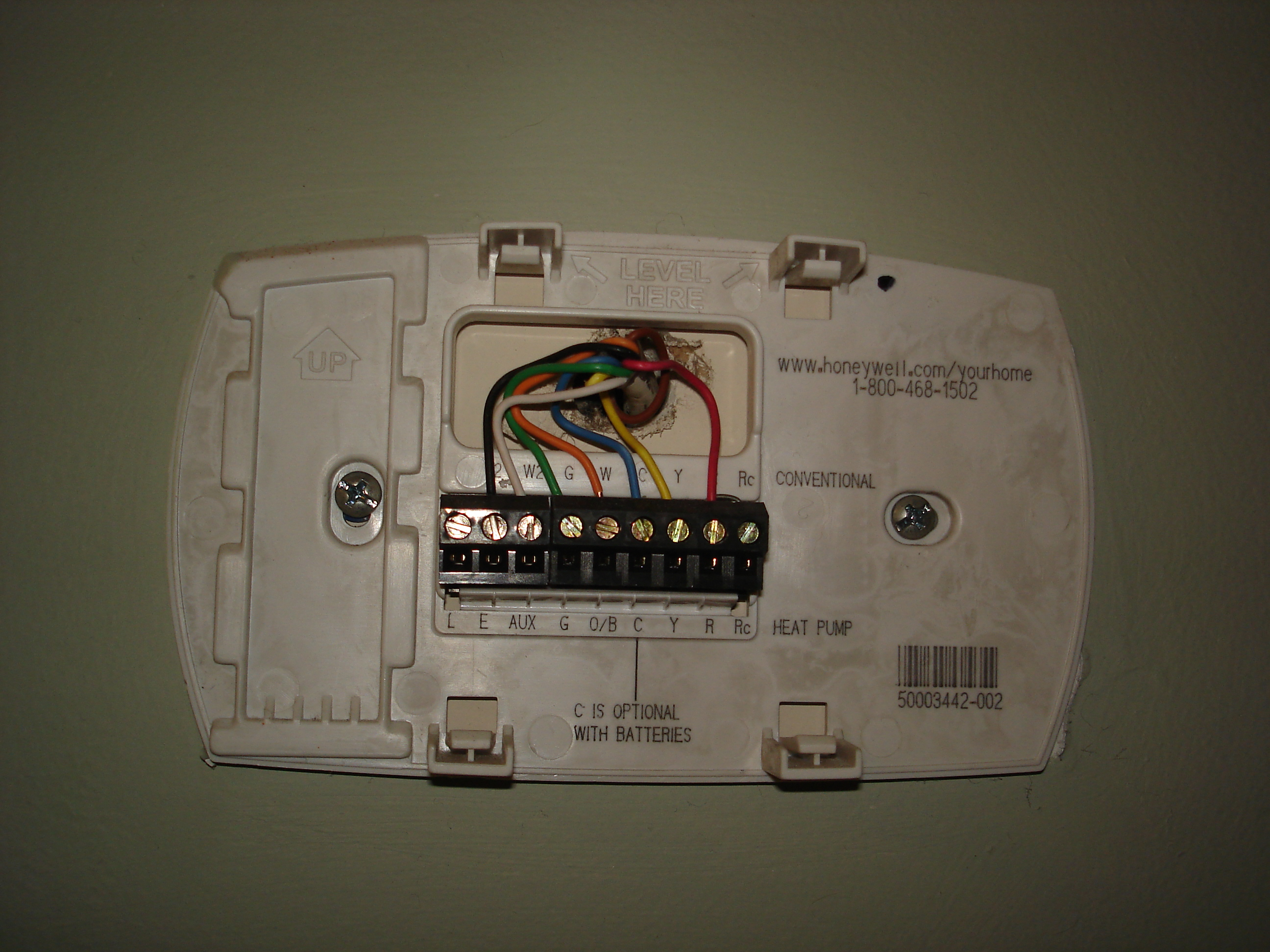 Thermostat Base on Honeywell Rth2300b Wiring Diagram